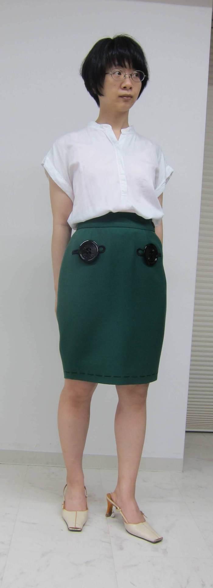 麻美緑スカート
