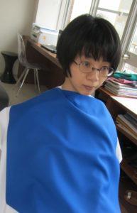 麻美似合うブルー