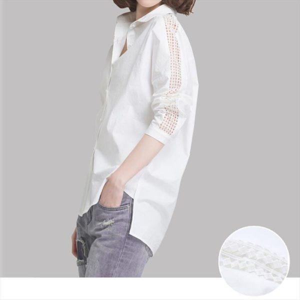 白シャツ袖入り